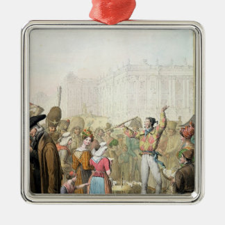 The Quai d'Ecole, Paris, 1831 Christmas Ornament