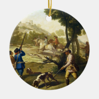 The Quail Hunting Francisco José Goya masterpiece Christmas Ornament