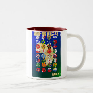 The Qualifying Teams for Africa 2010 Soccer Coffee Mugs
