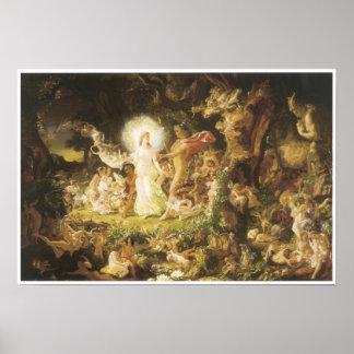The Quarrel of Oberon and Titania, 1849 Poster