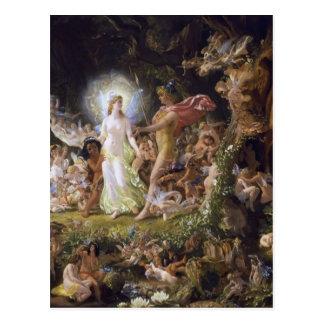 The Quarrel of Oberon and Titania Postcard