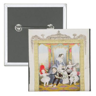 The Queen and Prince Albert at Home 15 Cm Square Badge