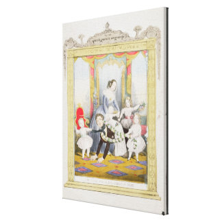 The Queen and Prince Albert at Home Canvas Print