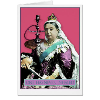 The Queen and The Hookah Card