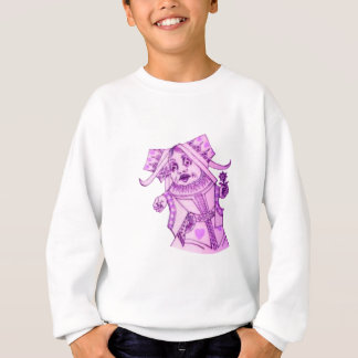 The Queen by Lewis Carroll Purple Tint Sweatshirt