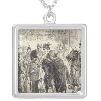 The Queen distributing Victoria Crosses Silver Plated Necklace