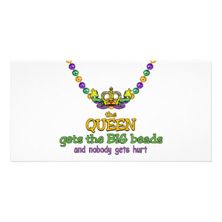 The Queen gets the BIG beads Photo Cards