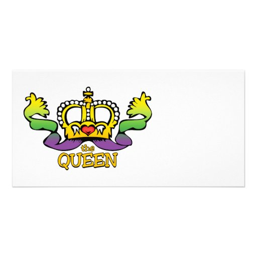 The Queen gets the BIG beads Personalized Photo Card