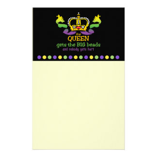 The Queen gets the BIG beads Stationery