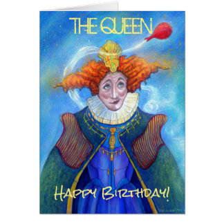 The Queen Happy Birthday Card, Card