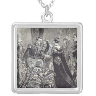 The Queen investing the Emperor of the French Silver Plated Necklace