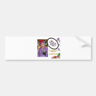 The-Queen-Loves-The-Jellybottys Product Line Bumper Sticker