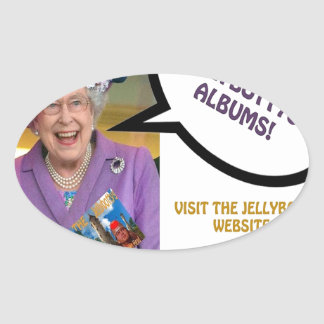The-Queen-Loves-The-Jellybottys Product Line Oval Sticker