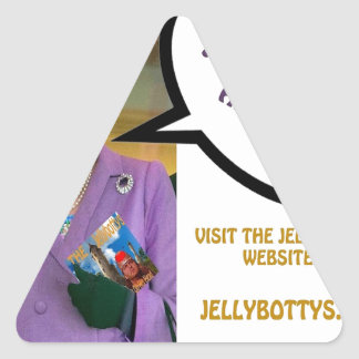The-Queen-Loves-The-Jellybottys Product Line Triangle Sticker