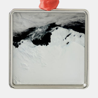 The Queen Mary Coast of Antarctica Silver-Colored Square Decoration