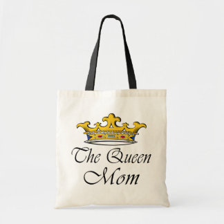 The Queen, Mom! A crown with attitude for mother! Tote Bags