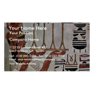 The Queen Nefertari At The Sacrifice By Maler Der Double-Sided Standard Business Cards (Pack Of 100)