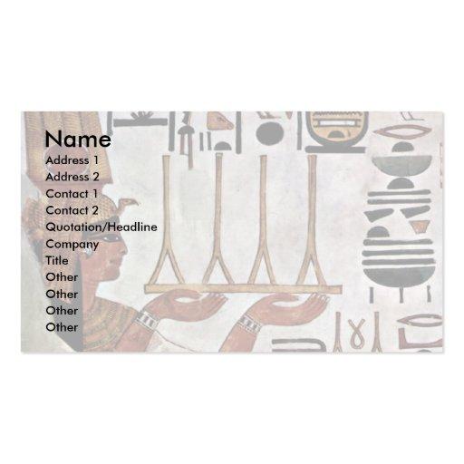 The Queen Nefertari At The Sacrifice By Maler Der Business Card Template
