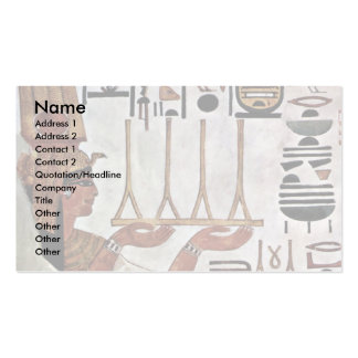 The Queen Nefertari At The Sacrifice By Maler Der Pack Of Standard Business Cards