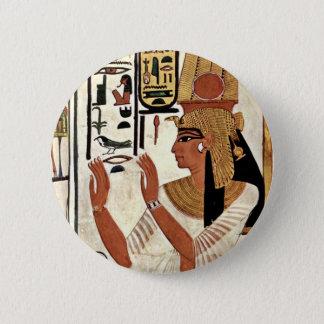 The Queen Nefertari In Prayer Stance By Maler Der 6 Cm Round Badge