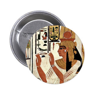 The Queen Nefertari In Prayer Stance By Maler Der 6 Cm Round Badge