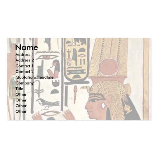 The Queen Nefertari In Prayer Stance By Maler Der Business Cards