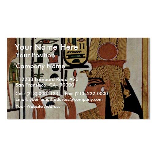 The Queen Nefertari In Prayer Stance By Maler Der Business Card Template