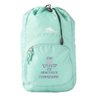 """THE QUEEN OF ABSOLUTELY EVERYTHING"" AQUA BACKPACK"