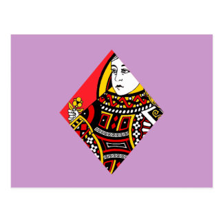 The Queen of Diamonds Postcard