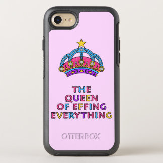 The Queen of Effing Everything Glitter Pink OtterBox Symmetry iPhone 7 Case