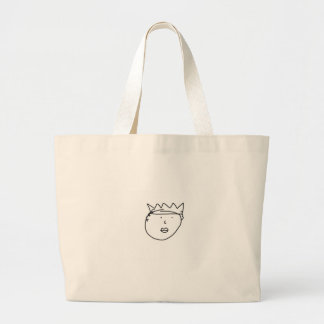 The Queen of England Drawing by Han Large Tote Bag