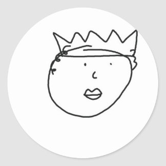 The Queen of England Drawing by Han Round Sticker