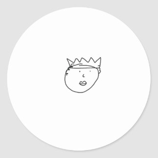 The Queen of England Drawing by Han Classic Round Sticker