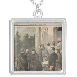 The Queen of England in France Silver Plated Necklace