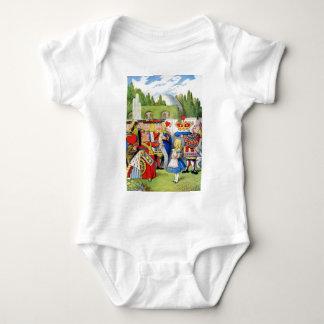 THE QUEEN OF HEARTS AND ALICE IN WONDERLAND BABY BODYSUIT