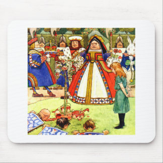 The Queen of Hearts and Alice in Wonderland Mouse Pad