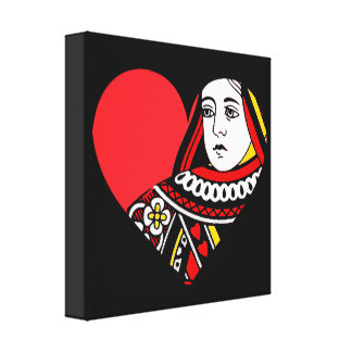 The Queen of Hearts Gallery Wrapped Canvas