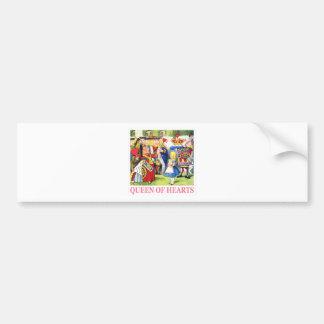 The Queen of Hearts Meets Alice in Wonderland Bumper Sticker