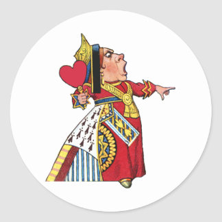 THE QUEEN OF HEARTS ROUND STICKER