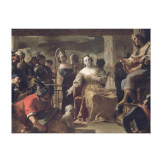 The Queen of Sheba before Solomon Canvas Print