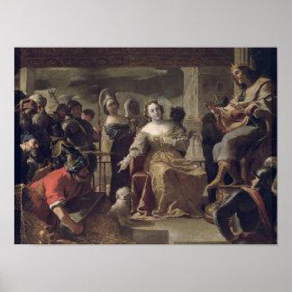 The Queen of Sheba before Solomon Poster