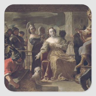 The Queen of Sheba before Solomon Sticker