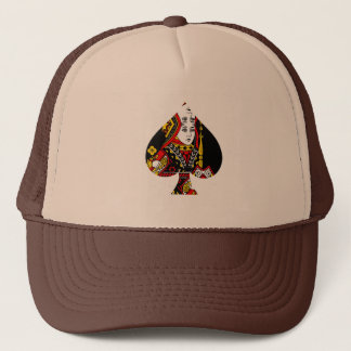 The Queen of Spades Trucker Hat