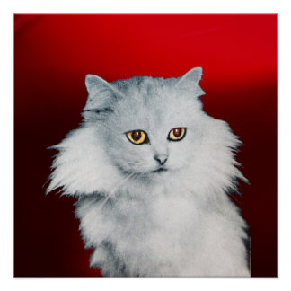 THE QUEEN OF WHITE CATS ,Red Ruby Poster