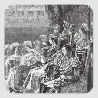 The Queen Opening Parliament in 1846 Square Sticker