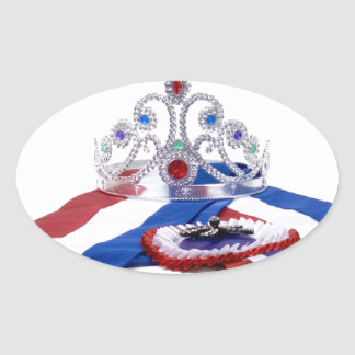 The Queen Oval Sticker