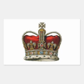 The Queen s Crown Rectangular Stickers