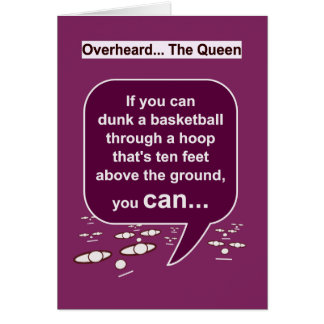 The Queen's thoughts on HoopDunk-HamperStuff Card