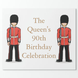 The Queen's 90th Birthday Celebration Wrapping Paper