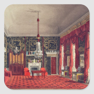 The Queen's Breakfast Room, Buckingham House Square Sticker